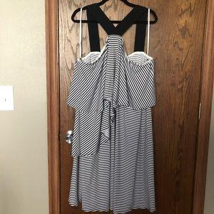 Lane Bryant striped dress